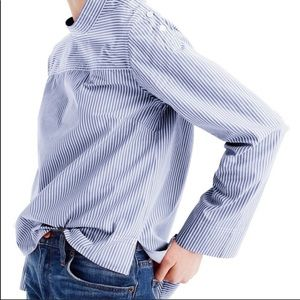 J Crew funnel neck shirt